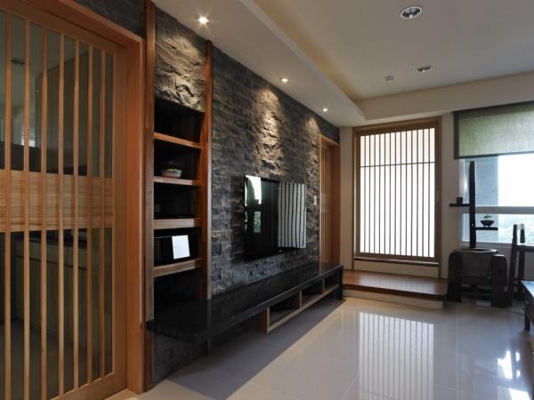 石材电视背景墙装修图片