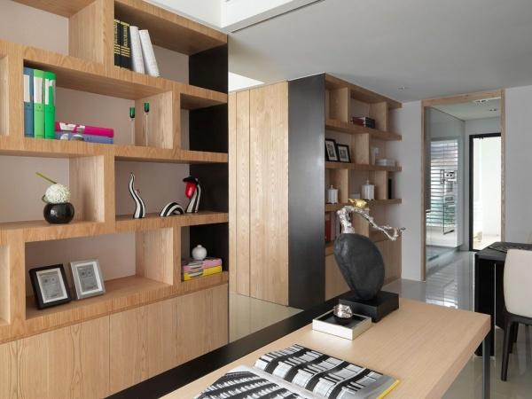 現代日式風格室內書房設計效果圖