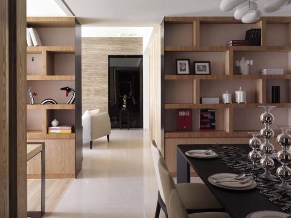 現代日式風格隔斷室內設計效果圖