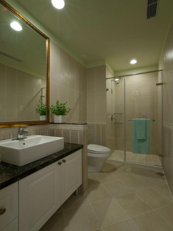 美式風格設計小衛生間圖片大全