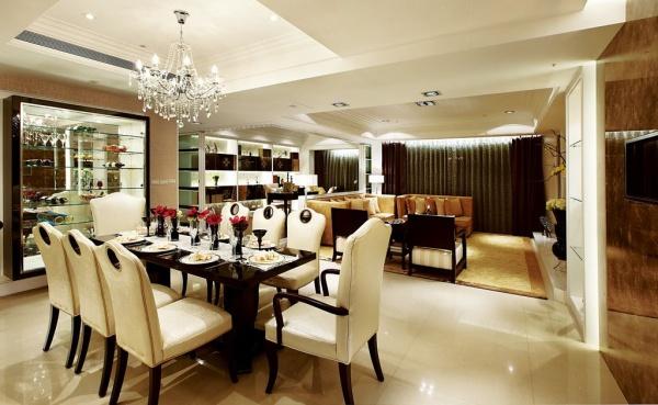 美式現代風格餐廳設計圖大全
