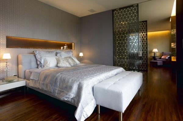 美式木制别墅室内卧室设计效果图