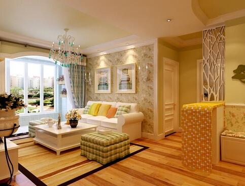 本案是一套唯美地中海的家装,咋一看还以为是田园风的家装呢,在色彩上,以蓝色、白色、黄色为主色调,看起来明亮悦目。在家具选配上,通过擦漆做旧的处理方式,搭配贝壳、鹅卵石等,表现出自然清新的生活氛围。在材质上,一般选用自然的原木、天然的石材等,用来营造浪漫自然。拱形门的运用,给人延伸般的透视感。
