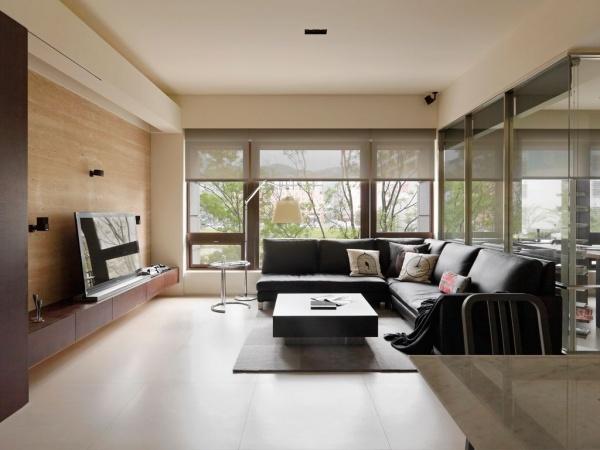 60平米简约公寓室内装修效果图片