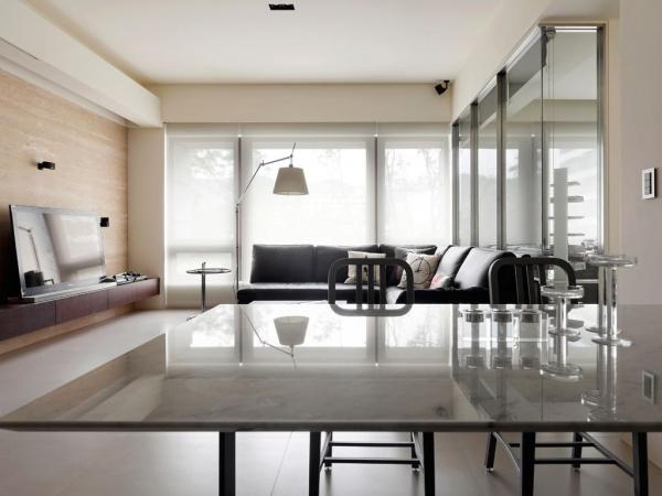 60平米简约公寓室内窗户装修效果图片