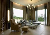 美式木制别墅室内客厅设计效果图