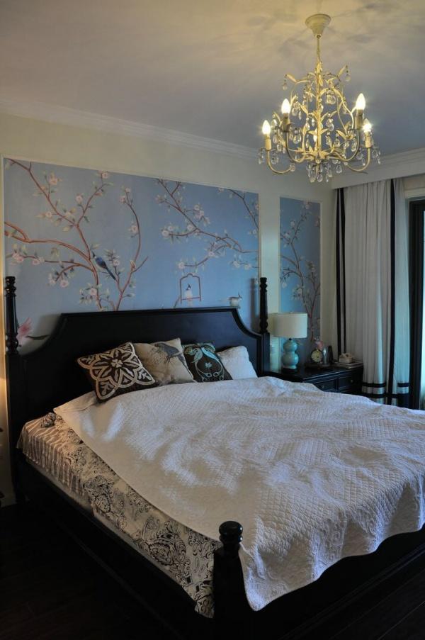 清新中式卧室效果图