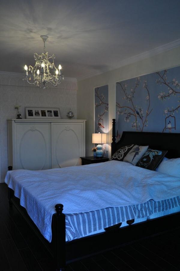 小清新中式卧室效果图