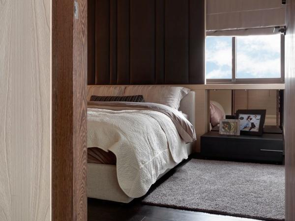 現代日式風格臥室窗戶圖片