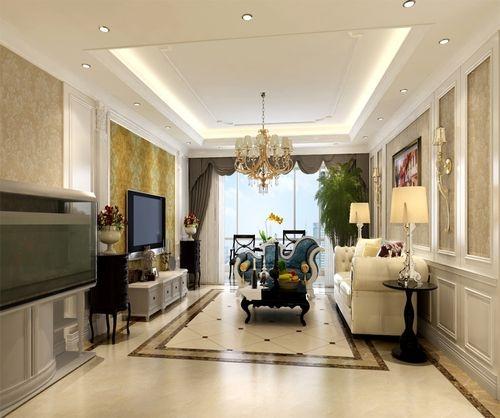 客厅的白色护墙板沙发背景,内贴浅色壁纸,时尚温馨不突兀,诱发着淡雅