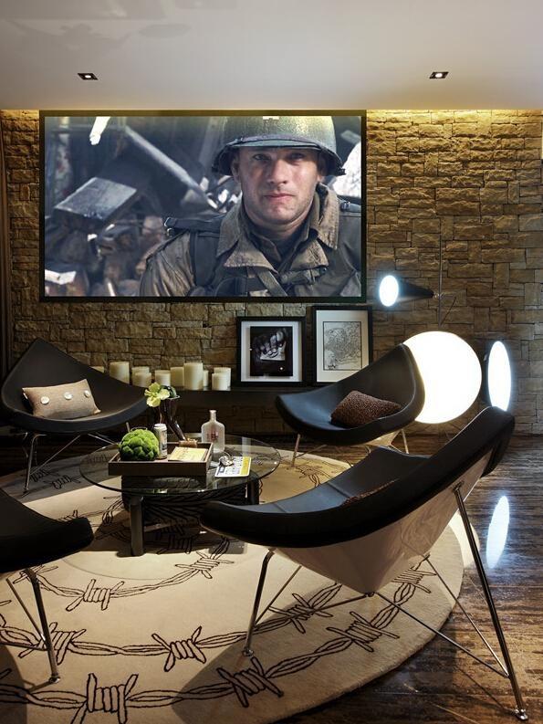 美式工业风电视背景墙设计图