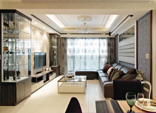 现代风格三居室装修效果图大全