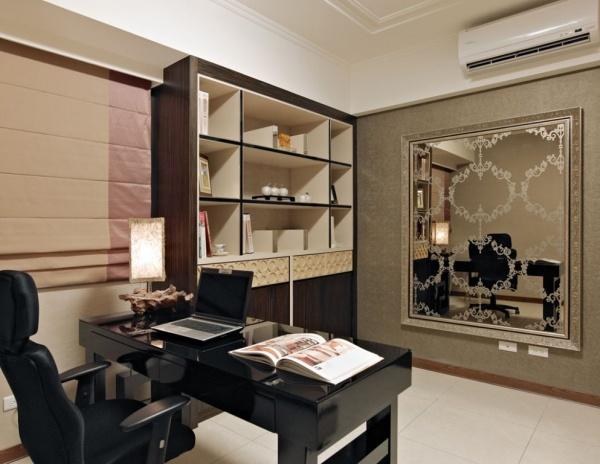 现代风格豪华书房设计图