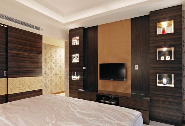现代风格卧室电视背景墙设计图大全