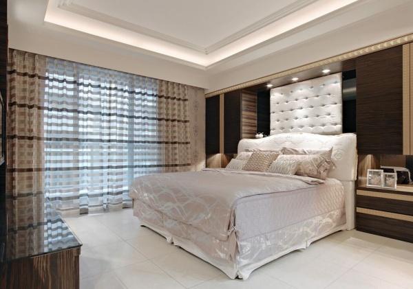现代风格清新卧室装修设计图