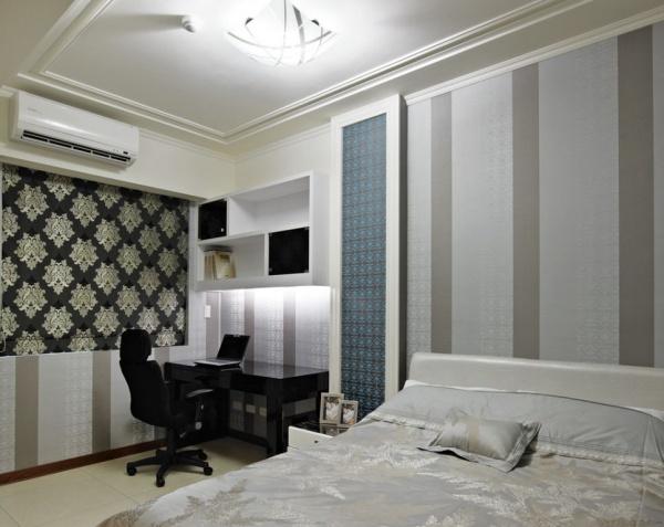 现代风格卧室书房装修效果图