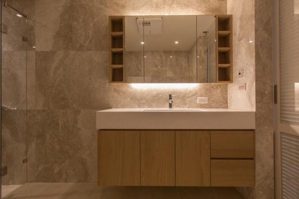 简约现代风格卫生间洗手台装修效果图片