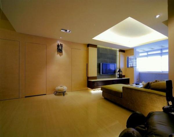 日式现代风格三居室装修图片
