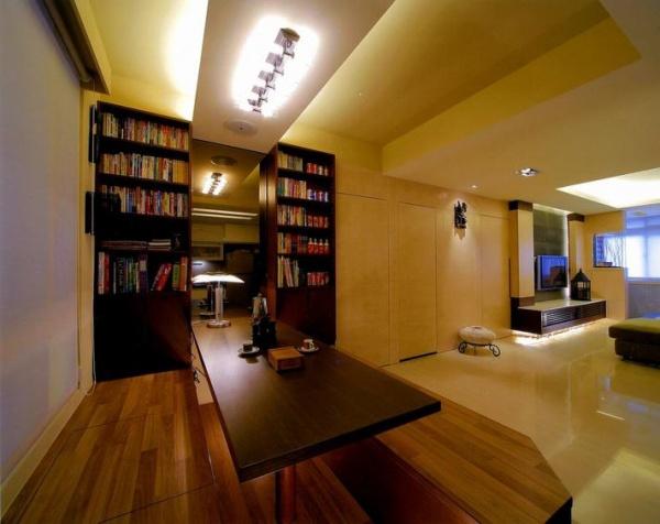 现代风格书房榻榻米装修图片