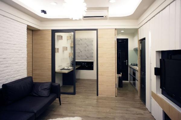 現代日式風格兩居室圖大全