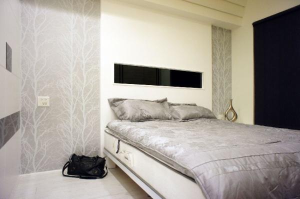 現代日式裝飾臥室圖