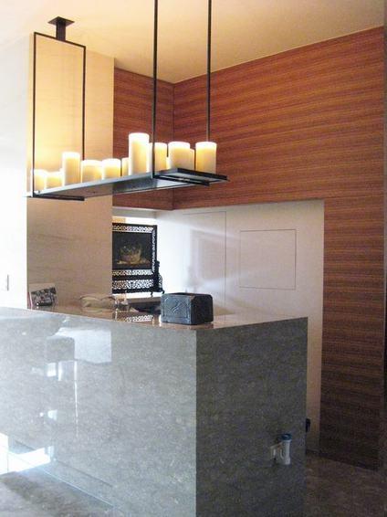 现代别墅室内吧台装饰效果图