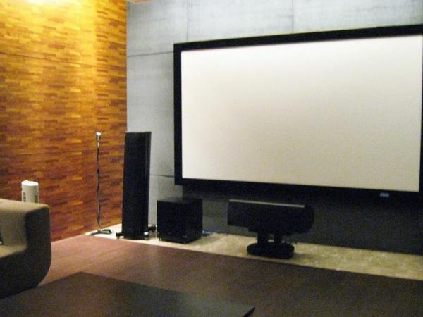 现代别墅投影室装饰设计效果图