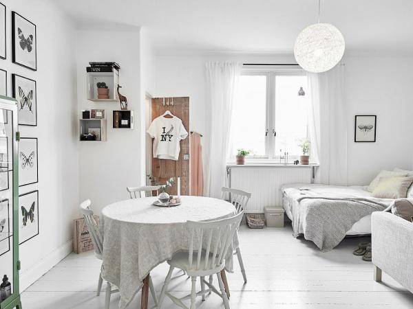 明快北欧风格单身公寓装修案例