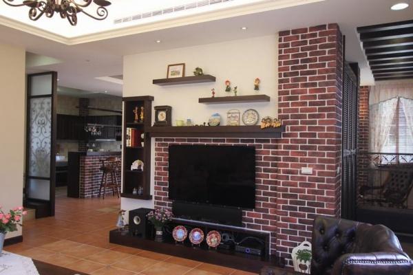 美式复古风格复式家装图片