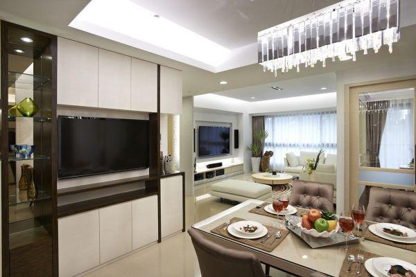 简易设计110平米三室两厅效果图