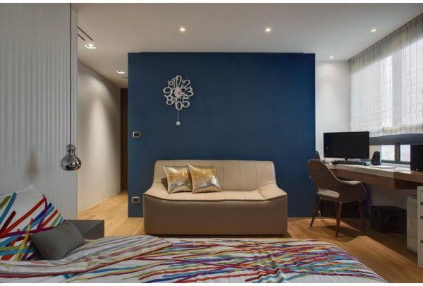 现代公寓家居背景墙设计效果图片