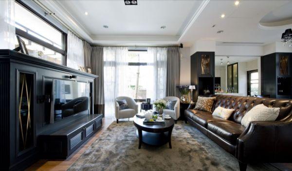美式古典别墅室内家装效果图