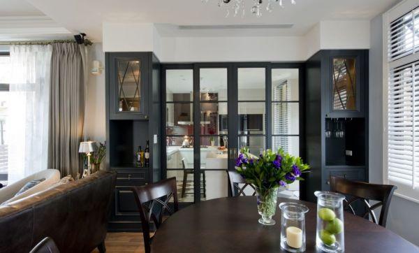美式古典餐厅室内家装效果图