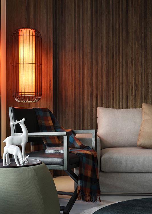 现代客厅室内壁灯设计效果图