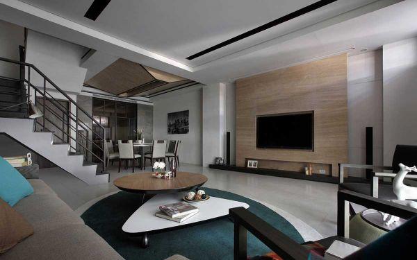 现代别墅客厅装修设计效果图欣赏