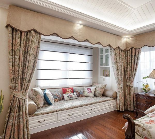 美式别墅飘窗室内设计效果图欣赏