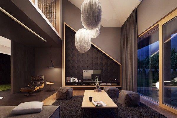 时尚现代风格loft客厅设计效果图_家居装修设计网