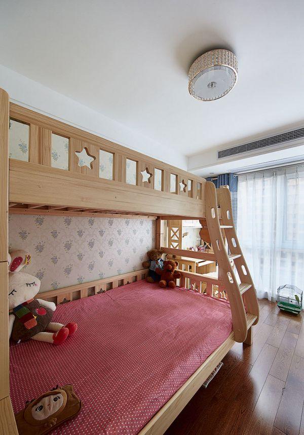 简约儿童房高低床装饰效果图