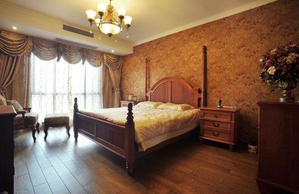 复古美式田园风卧室装修