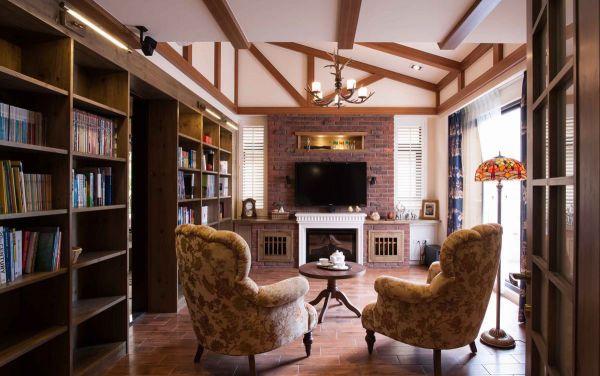 美式风格别墅室内家居设计效果图