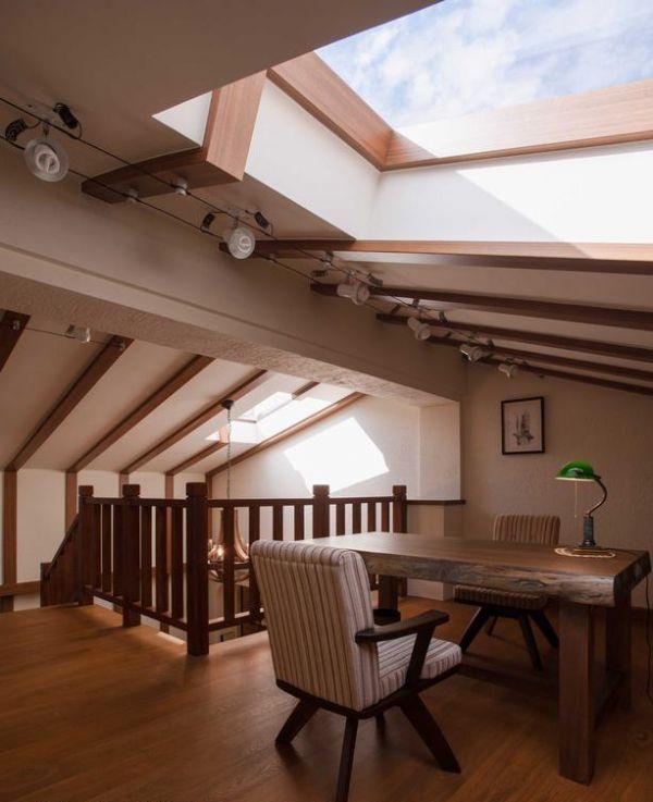 美式风格阁楼家居设计效果图