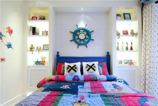 地中海家裝臥室床頭裝修背景墻大全
