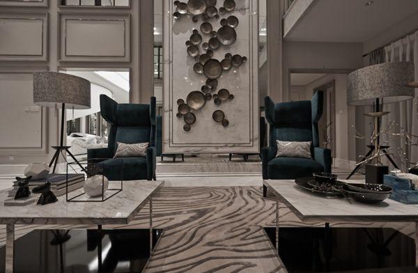 新古典风格别墅客厅设计效果图