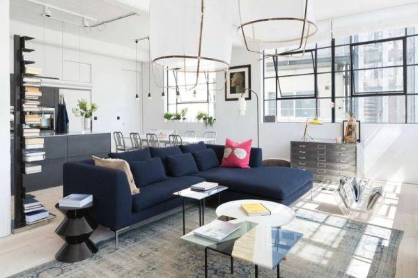 北欧工业风格室内客厅设计效果图