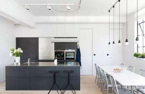 北欧工业风格复式家装吧台效果图_家居装修设计网