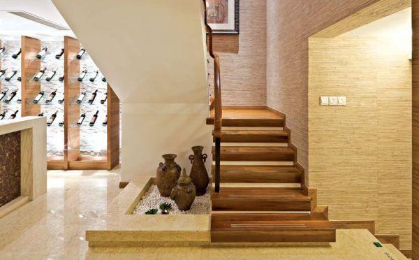 典雅中式现代风格别墅楼梯图片