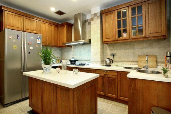 欧式复古设计厨房装修图片欣赏