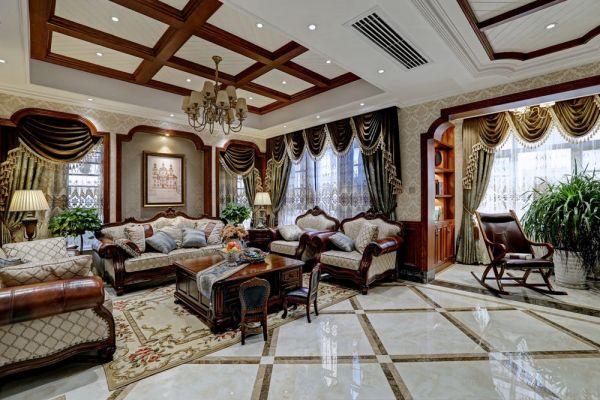 欧式古典客厅家装效果图