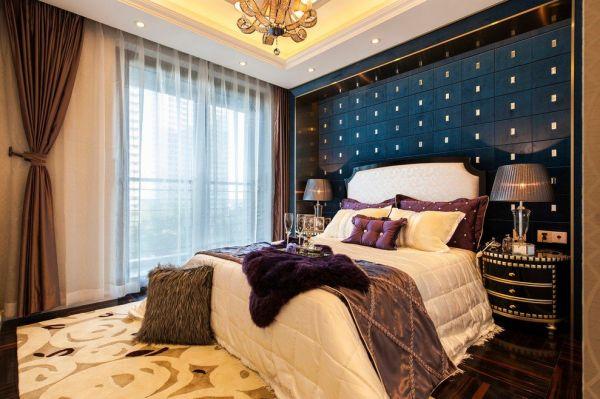 豪华精致新古典卧室布置