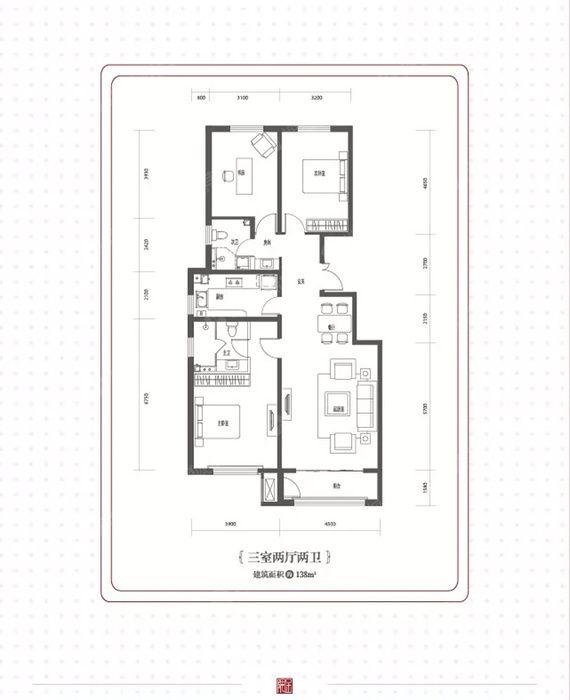金隅·金玉府135㎡简约北欧3室2厅